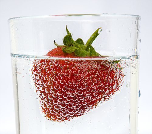 Strawberry bubbles