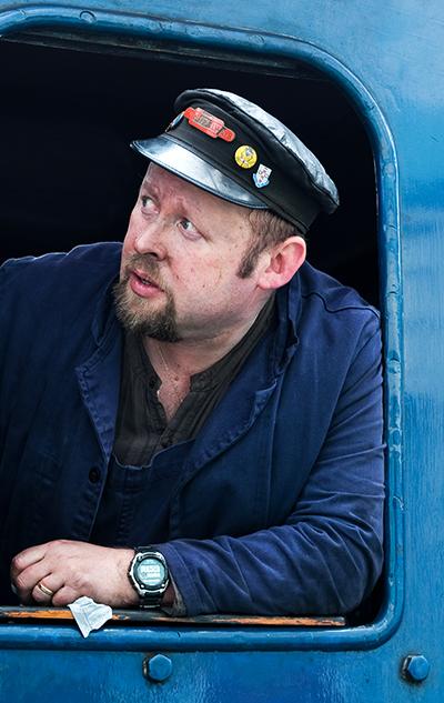 NYMR Train driver