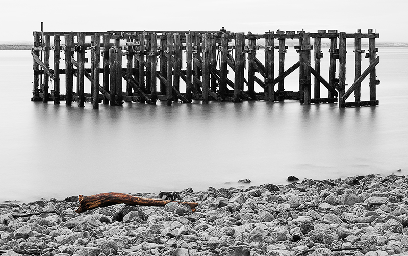 Abandoned jetty on River Tees, South Gare
