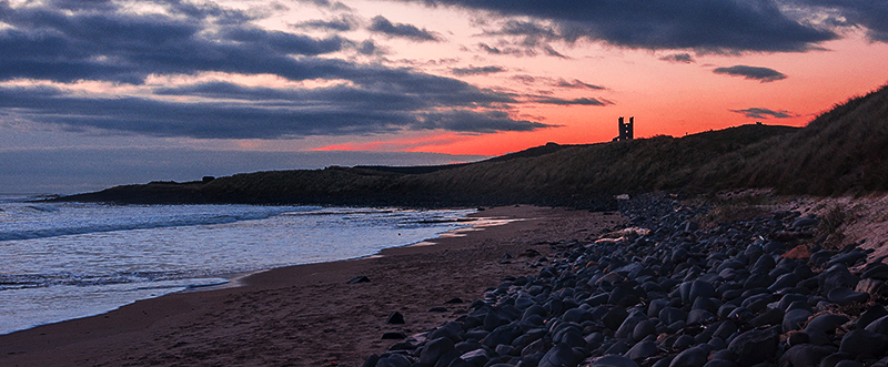 Dunstanburgh Castle Beach Sunrise