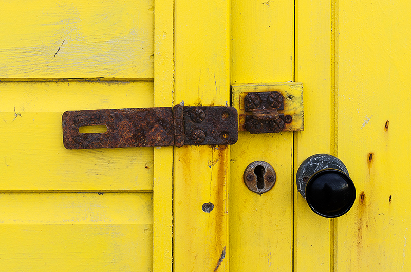 Whitby beach hut lock