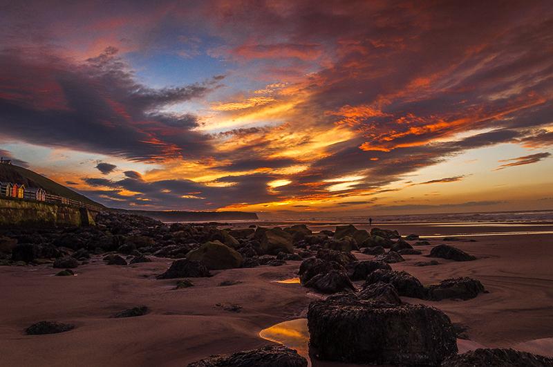 Sunset on Whitby Beach