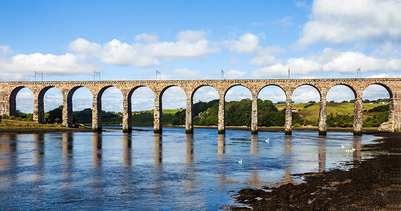 Railway Viaduct and River Tweed, Berwick