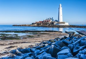 St. Mary's Island and lighthouse, Northumberland