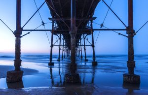 Underneath Saltburn Pier @ blue hour